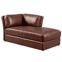 "Ramiro Leather Chaise, 39""W x 67""D x 33""H"