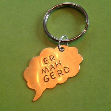 Er Mah Gerd Thought Bubble Keychain