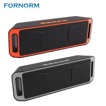 FORNORM Wireless SC208 Bluetooth 4.0 Speaker Super Bass Loudspeaker Double Magnetic Trumpet With HD Mic Support USB Disk TF Card