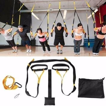 Home Gym Suspension Resistance Strength Training Straps Workout Trainer Travel Restaurant Portable Excercise Keeper