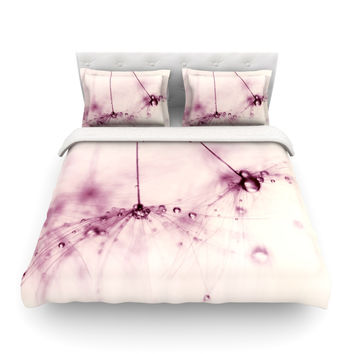 "Ingrid Beddoes ""Pink Blush"" King Fleece Duvet Cover - Outlet Item"