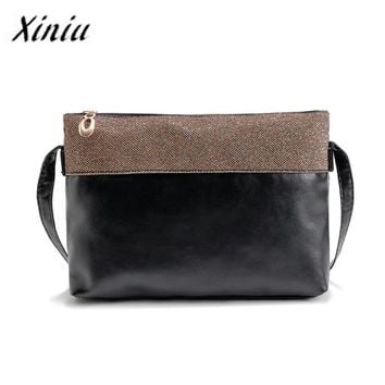 Xiniu Female Handbag 2016  Vintage Bags Women Scrub Shoulder Bags Small Women Messenger Bag Crossbody Envelope Clutch Bags#YLEL