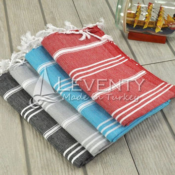 Bar Cloth Set of 4 Washstand Face Washer Homespun Towel Kitchen Decor Towels Garden Tea Towels Bath Facial Cloth Undyed Gift Towels Hand