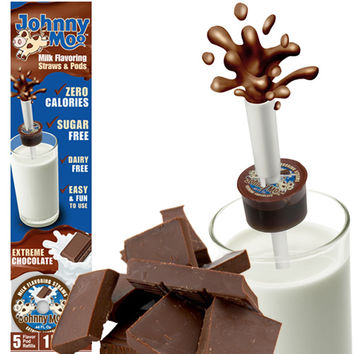 JOHNNY MOO EXTREME CHOCOLATE MILK STRAW & PODS
