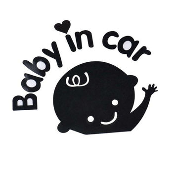 High Quality Baby In Car Waving Baby on Board Safety Sign Car Decal