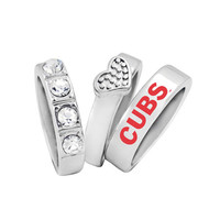 Chicago Cubs MLB Stacked Rings