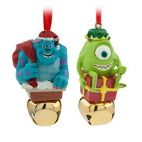 Sulley and Mike Wazowski Jingle Bell Ornament Set   Disney Store