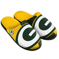 Green Bay Packers Official NFL Youth 8-16 Split Color Slide Slipper