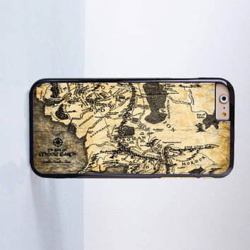 The Lord of the Rings Mordor Map Plastic Case Cover for Apple iPhone 6 6 Plus 4 4s 5 5s 5c
