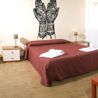 Vinyl Wall Decal Sticker Henna Hands #OS_AA383