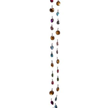 6' Multi-Colored Rhinestone and Bead Christmas Garland