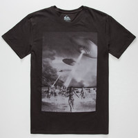 Quiksilver Beach Attack Mens T-Shirt Black  In Sizes