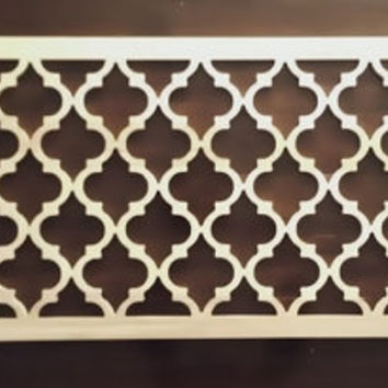 "Double/Full Size Moroccan Lattice Headboard 24""x 55"" Unfinished"