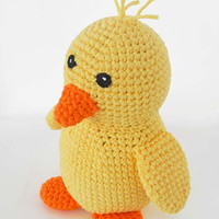 Crochet Toy Pattern: Amigurumi Duck, Crochet Baby Chick PDF Pattern