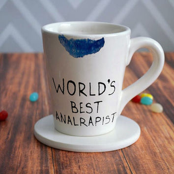 worlds best analrapist for mug, coffee mug