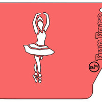 FunFare stencil, Ballerina, food decorating stencils