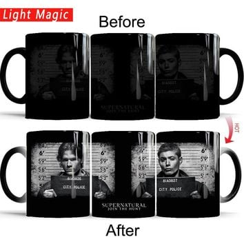 Supernatural Mug Shot Color Changing Mug