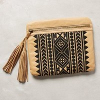Nomad Fringed Clutch by Twelfth Street by Cynthia Vincent Cedar One Size Clutches