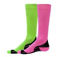 NEON COMPRESSION RUNNING SOCKS