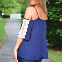 Simple Bliss top, navy