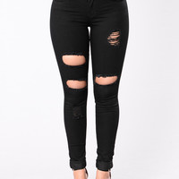 Thinking Twice I'm The One Jeans - Black