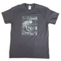 Pixies: Doolittle Monkey Grid Shirt - Charcoal