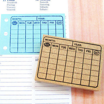 Rubber stamp for your Filofax, Hobonichi techo,Erin Condren life planner, KikkiK , and calendar. Japanese style no.29