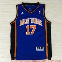 Jeremy Lin New York Knicks 17 NBA Jersey Blue Super Rare Jeremy Lin New York Knicks Sp