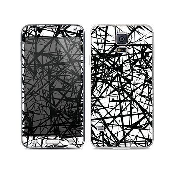 The Black and White Shards Skin For the Samsung Galaxy S5