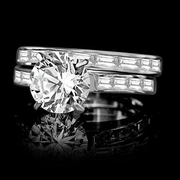 2 ct. Round center simulated diamond-diamond veneer® wedding/engagement ring 635R71628