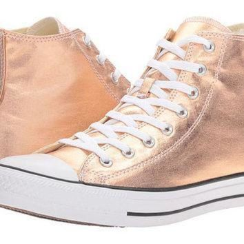 d5e11a6500b4 CREYON converse chuck taylor all star metallic canvas hi metallic sunset  glow white black