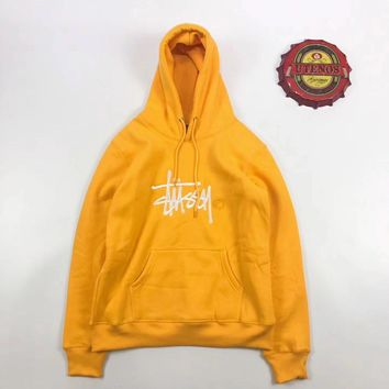 spbest Stussy Logo Embroidered Color Hoodie