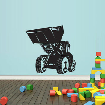 Wall Decal Vinyl Sticker Decals Bedroom Nursery Boys Art Decor Tractor Loader bulldozer Kids (z2652)