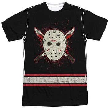 Mens Friday the 13th Voorhees Jersey Vibrant Sub Tee Shirt