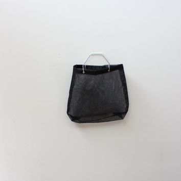 Black Mesh Handle Bag