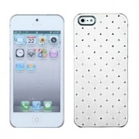 Avant Products White Lace - Luxury Protector Case with Diamonds for Apple iPhone 5 [AT&T, Verizon Wireless]