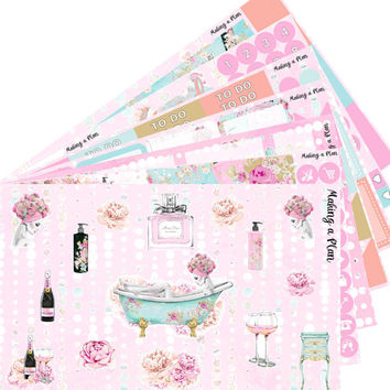 Relax  Happy Planner Vertical Kit Planner Stickers for use with ERIN CONDREN LIFEPLANNER