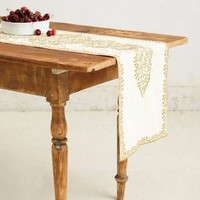 Bahia Embroidered Table Runner by Anthropologie