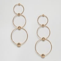 Ashiana Triple Layered Hoop Earrings at asos.com