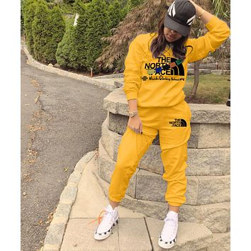 THE NORTH FACE Fashion Letter Pullover Sweater Pants Set Two-Piece