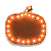 Pumpkin Vintage Marquee Lights Sign (Rustic)