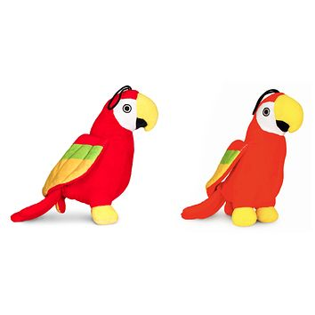 Pet Qwerks Chattering Parrot with Electronic Sounds Plush Dog Toy