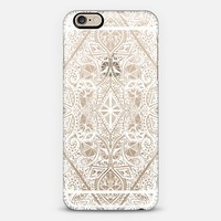 Crystal White Geometric Doodle Pattern on Transparent iPhone 6 case by Micklyn Le Feuvre | Casetify