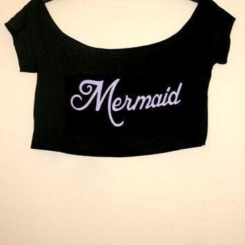 Seapunk Lilac Mermaid Crop Top