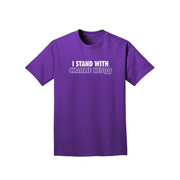 I Stand With Charlie Adult Dark T-Shirt by TooLoud