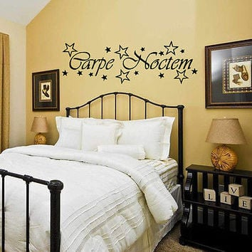 WALL VINYL STICKER DECAL ART MURAL SWEET DREAMS CARPE NOCTEM QUOTE T185