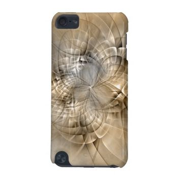 Earth Tones Abstract Modern Fractal Art Texture iPod Touch (5th Generation) Cover