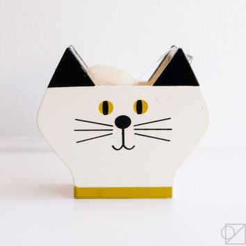 Happy Cat Day Calico Kitty Tape Dispenser