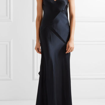 Narciso Rodriguez - Paneled silk-satin gown