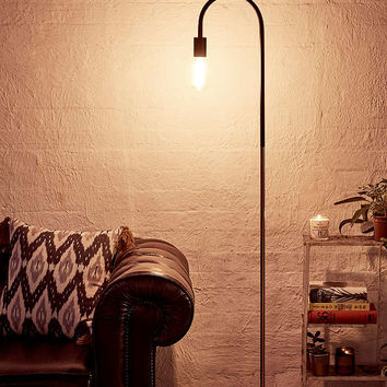 Concrete and Copper Floor Lamp - Urban Outfitters